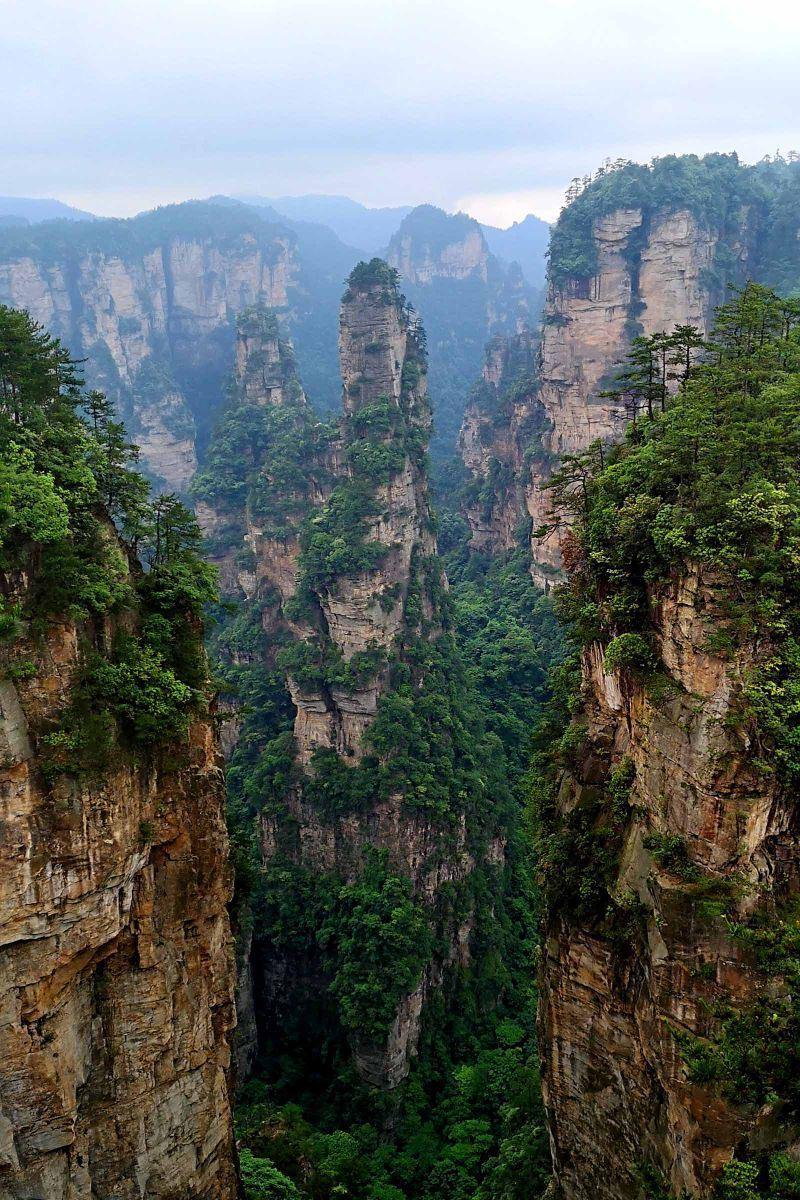 张家界乌龙寨旅游景点真实照片