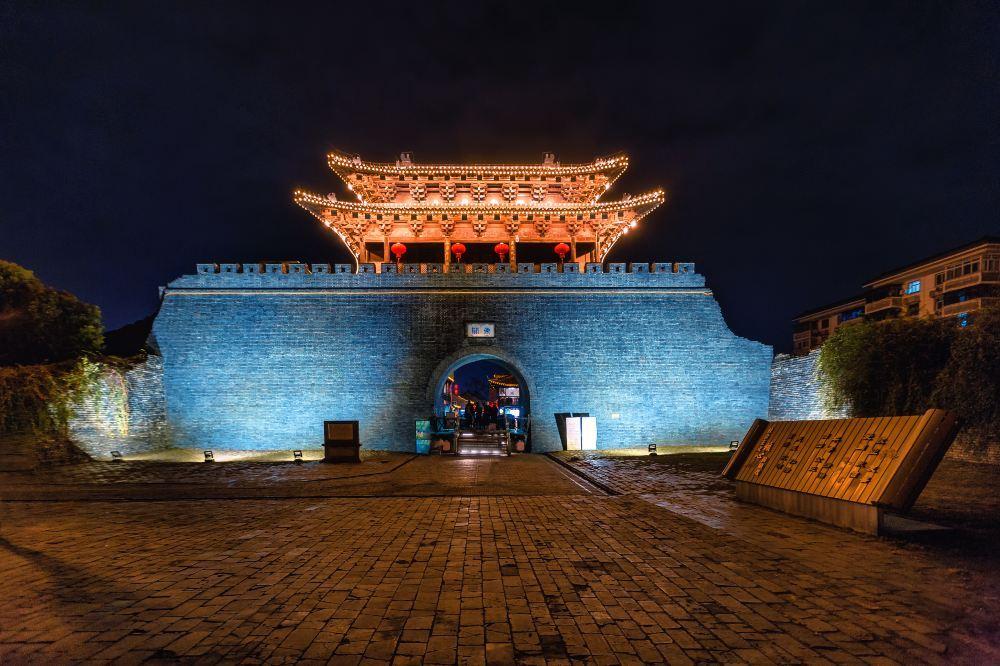 扬州东关街历史街区高清夜景图片