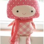 粉可爱的布娃娃手工图片