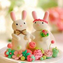 粉可爱的兔宝宝婚礼