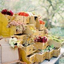 唯美意境图片盒子和花