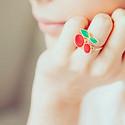 女生个性戒指唯美