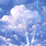 站在云朵上的梦幻唯美手