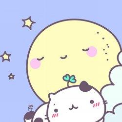 可爱卡通小肥猫动漫手机壁纸图片