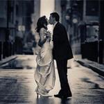 恋人接吻Kiss黑白情侣头像