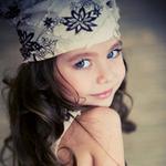 可爱外国小女生微博头像