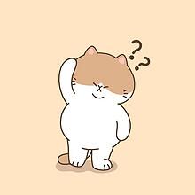 走哪躺哪的可爱卡通三花猫高清简约手机壁纸图片