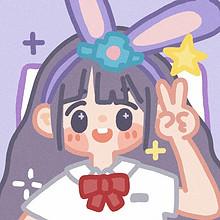 带着动物发箍的可爱卡通女孩头像图片