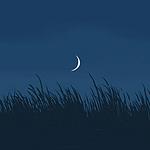 夜空中一轮弯弯的月亮唯