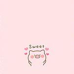 粉色系可爱卡通小猪手机