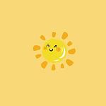 每天都要保持微笑黄色背