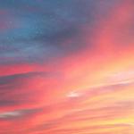 夕阳天空的绚烂晚霞唯美
