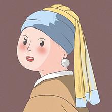 可爱卡通手绘闺蜜双人头像