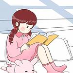 动漫卡通女生看书日常手