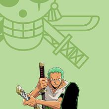 海贼王动漫角色罗罗诺亚·索隆高清手绘简约手机壁纸图片