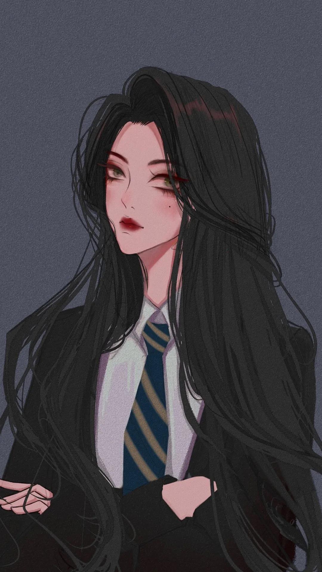 高冷酷girl二次元动漫女生手机壁纸图片