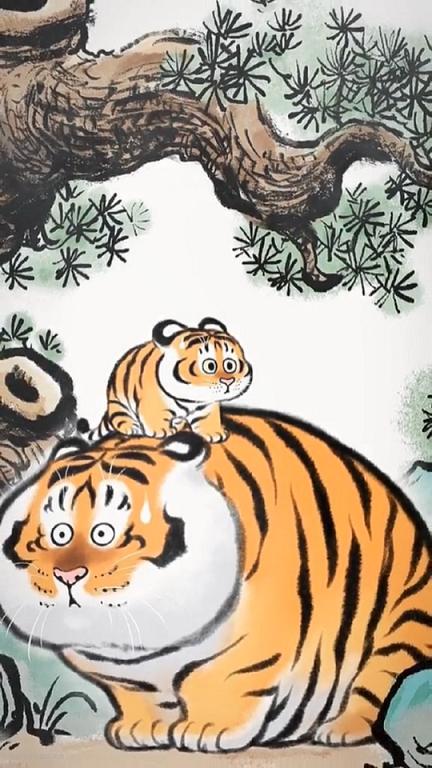 超萌超治愈的可爱动物插画高清手机壁纸图片
